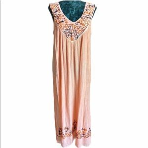 Pagoda Free Size Dress / Coverup with Embroidery